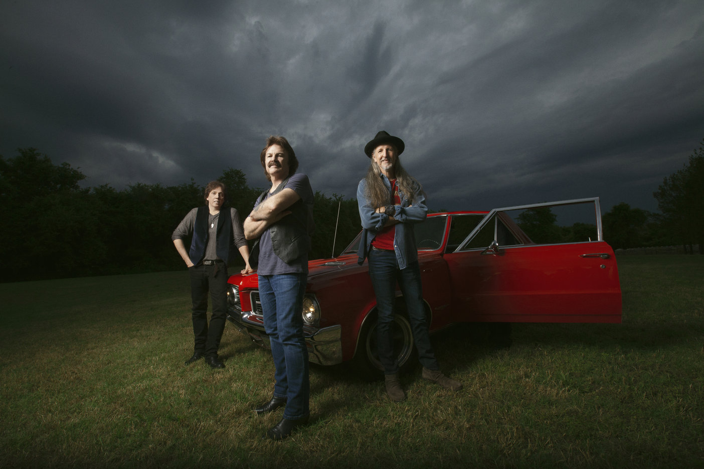 The Doobie Brothers' John McFee, Tom Johnston and Patrick Simmons